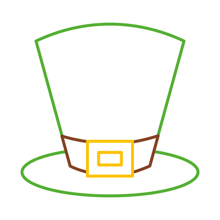 green top hat accessory fashion irish vector illustration line color design