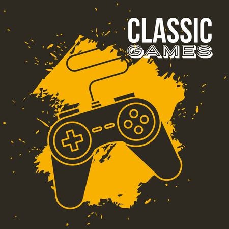 game pad for older game consoles device vector illustration