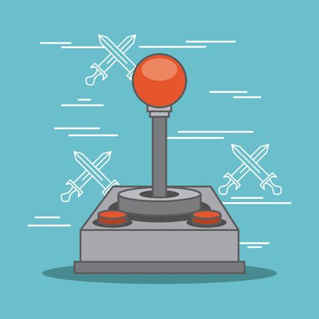 classic joystick buttons video game gadget vector illustration Illustration