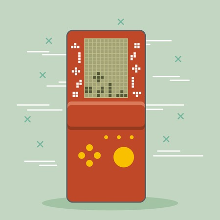 video game console portable gadget vector illustration
