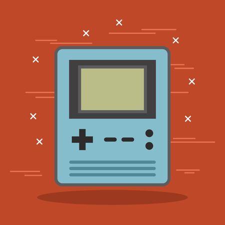vintage retro gadget portable videogame console vector illustration Ilustração