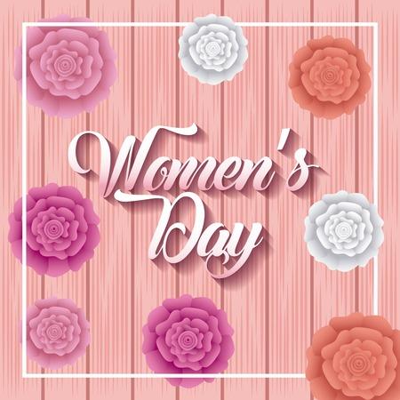 행복한 여성의 날 카드 장식 카네이션 꽃 축하