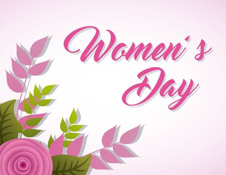 Womens Day Karte Nelke Blumendekoration Banner Standard-Bild - 95163426
