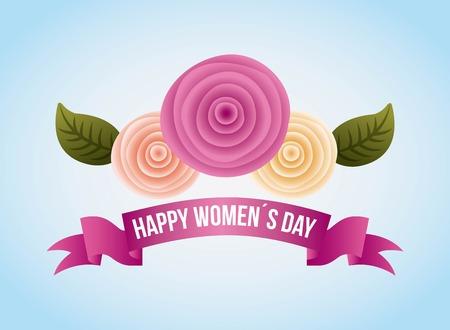 여성의 날 카드 카네이션 꽃 장식 배너