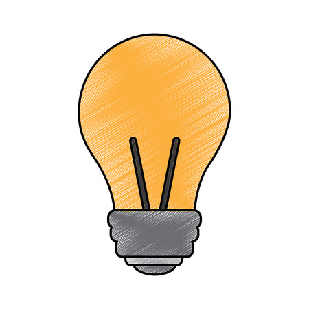 light bulb eletric illumination lamp icon vector illustration drawing image Imagens - 95185251