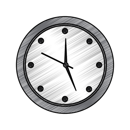 round clock time hour device count icon vector illustration drawing image