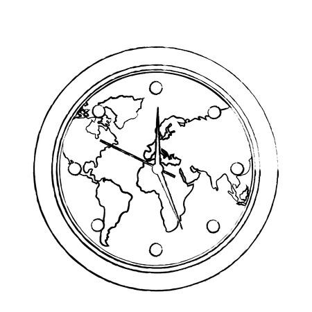 Flecha globo y dinero diseo ilustracin sobre un fondo blanco 95185368 round clock on world map ecology concept vector illustration sketch image gumiabroncs Images