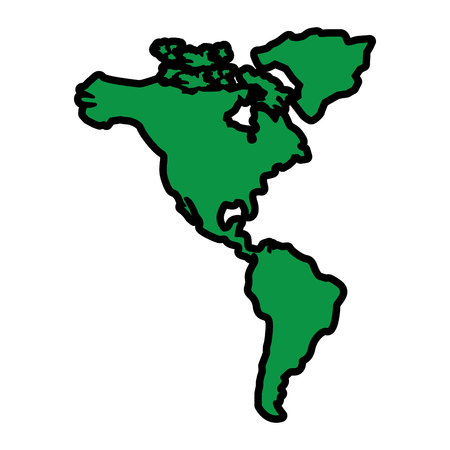 north and south america map continent vector illustration  green image Foto de archivo - 95185441