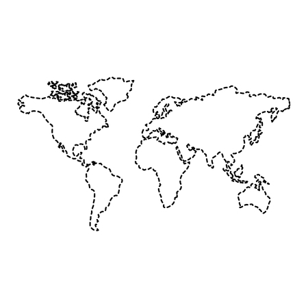 map of the world with countries continent vector illustration  sticker design image