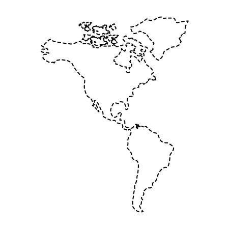 북과 남아메리카지도 대륙 벡터 일러스트 스티커 디자인 이미지