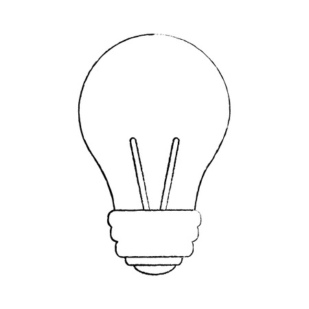 light bulb eletric illumination lamp icon vector illustration sketch image Ilustração