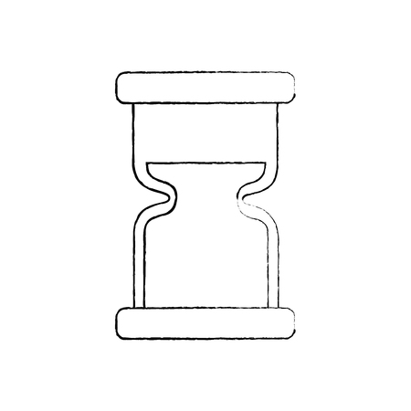 clock hourglass sand time measure device vector illustration sketch image