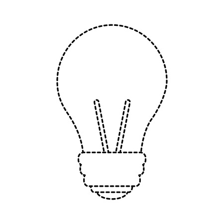 light bulb eletric illumination lamp icon vector illustration sticker design image Ilustração