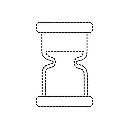 clock hourglass sand time measure device vector illustration sticker design image