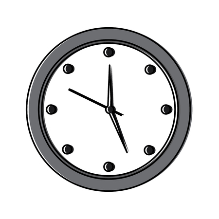 round clock time hour device count icon vector illustration 版權商用圖片 - 95187106