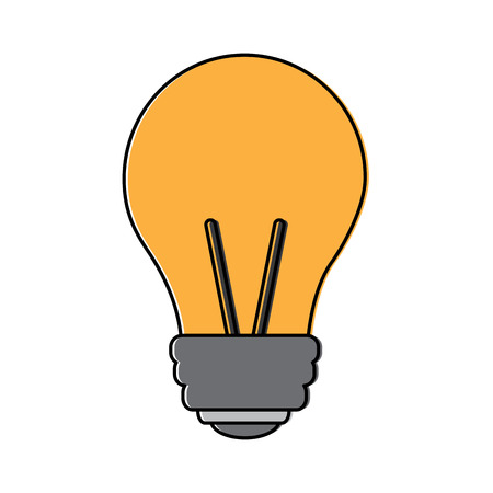 light bulb eletric illumination lamp icon vector illustration