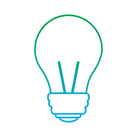 light bulb eletric illumination lamp icon vector illustration blue and green line degrade color