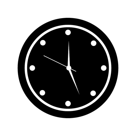 round clock time hour device count icon vector illustration pictogram design Illustration