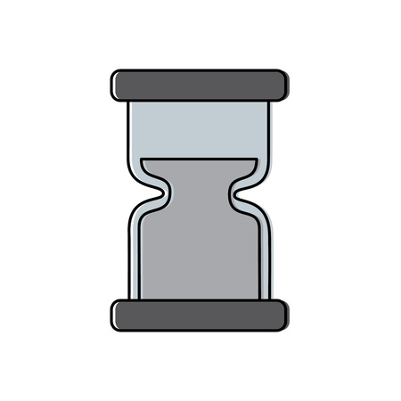 clock hourglass sand time measure device vector illustration Çizim