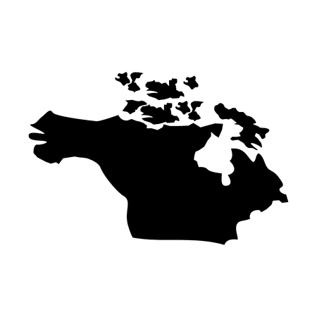 map of north america country continent vector illustration  pictogram design Illustration