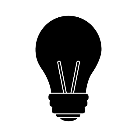 light bulb eletric illumination lamp icon vector illustration pictogram design