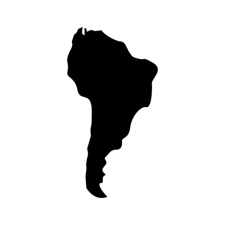 silhouette south america map continent geography vector illustration  pictogram design