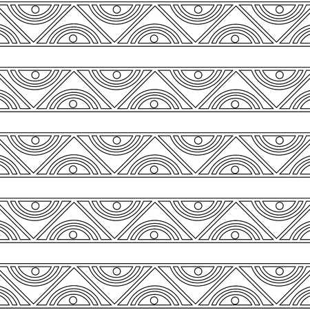 pattern ethnic abstract black and white tribal texture vector illustration