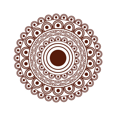 Ornamental round floral mandala ethnic abstract decoration vector illustration