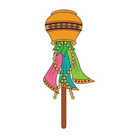 Multicolore bois de nidification boîte bâton traditionnel ethnique ethnique illustration vectorielle Banque d'images - 95186581