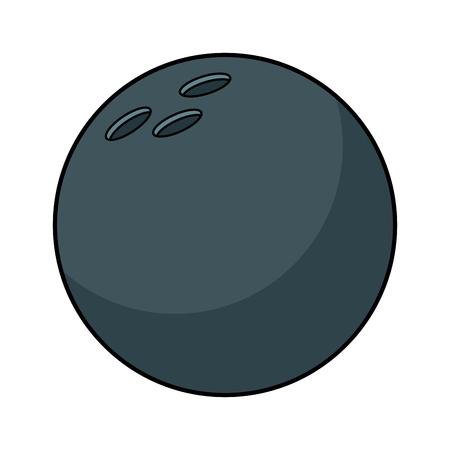 Bowling ball ball sport equipment vector illustration Banque d'images - 95178030