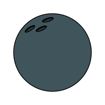 Bowling ball ball sport equipment vector illustration Banque d'images - 95178040