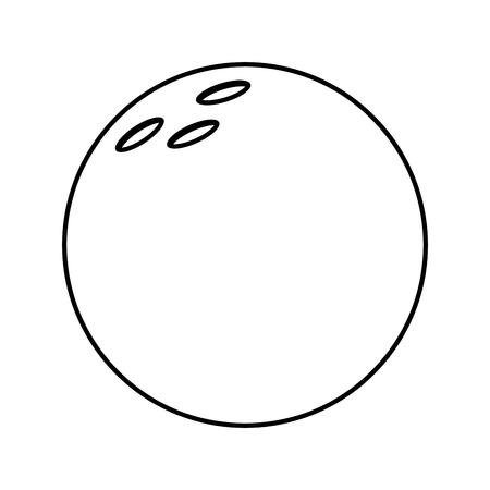bowling ball game sport equipment vector illustration outline design