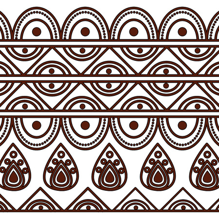 indian ornamental ethnic motifs oriental decoration template vector illustration Stockfoto - 95178041