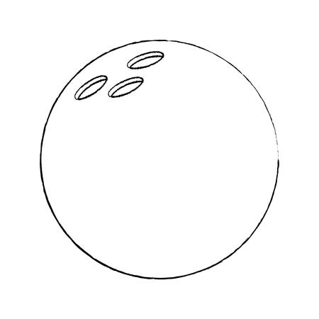 Bowling ball ball sport equipment vector illustration de conception d & # 39 ; esquisse Banque d'images - 95178215
