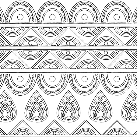 indian ornamental ethnic motifs oriental decoration template vector illustration Reklamní fotografie - 95179909