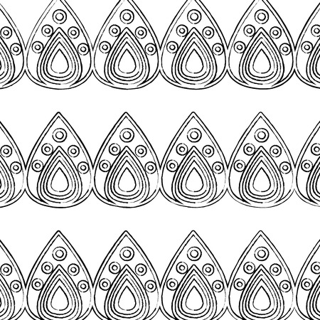 traditional decorative ornate pattern hindu ethnic symbol textile vector illustration