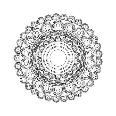 ornamental round floral mandala ethnic abstract decoration vector illustration Ilustração