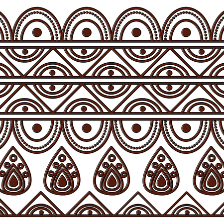 indian ornamental ethnic motifs oriental decoration template vector illustration