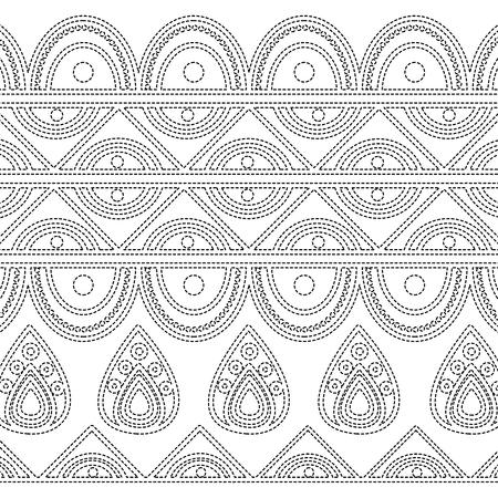 indian ornamental ethnic motifs oriental decoration template vector illustration Stockfoto - 95179630