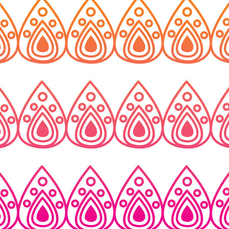 traditional decorative ornate pattern hindu ethnic symbol textile vector illustration red degraded line image