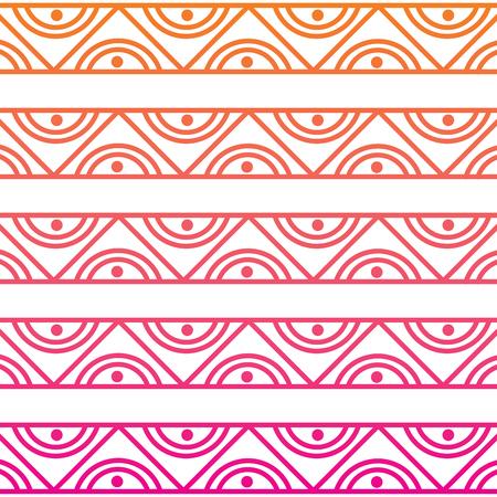 Motif abstrait ethnique noir et blanc tribal conception abstraite texture de ligne dégradé vecteur Banque d'images - 95180509