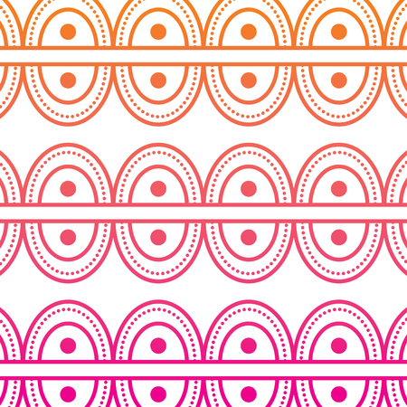 textile tribal pattern with point circles vector illustration red degraded line image