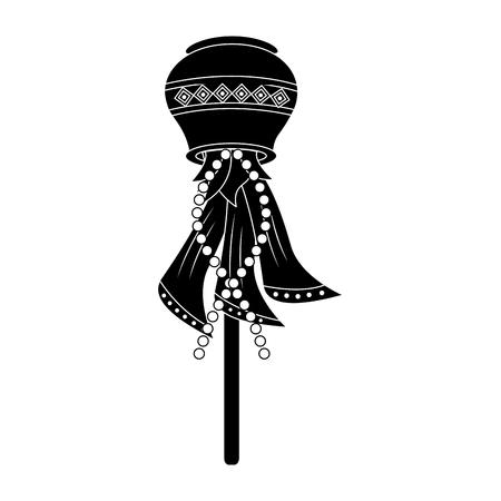 Bois de bois mat bâton traditionnel illustration ornement ethnique vecteur de figure traditionnelle Banque d'images - 95181218