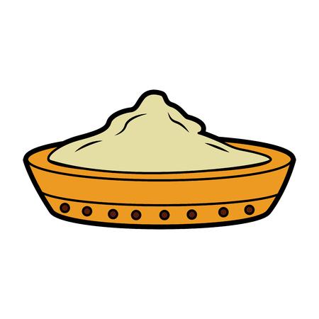 Céramique bol ingrédient ingrédient cuisson illustration vectorielle Banque d'images - 95182231