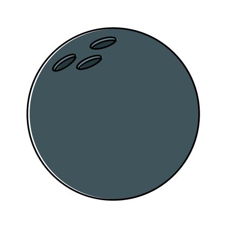 Bowling ball ball sport equipment vector illustration Banque d'images - 95181609