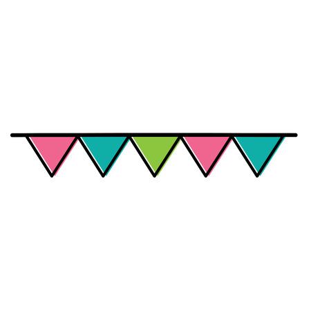 multicolor garnland hanging decoration celebration vector illustration