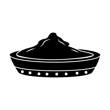ceramic bowl spice ingredient cooking vector illustration pictogram image