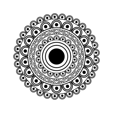 ornamental round floral mandala ethnic abstract decoration vector illustration Illusztráció