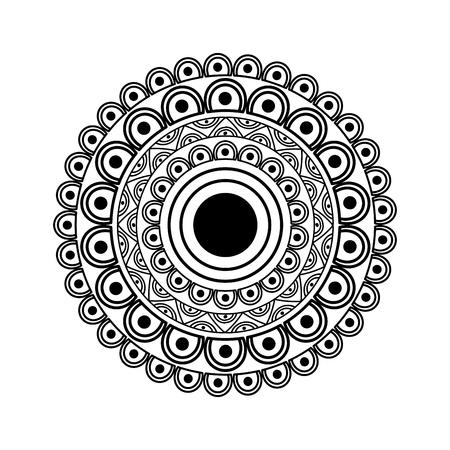 ornamental round floral mandala ethnic abstract decoration vector illustration Illustration