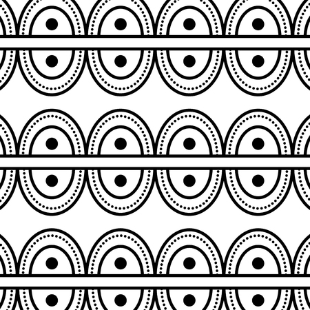 textile tribal pattern with point circles vector illustration